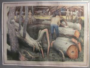 Raymond Coxon poster Tree Felling