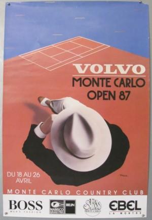 Razzia Monte Carlo tennis poster 1987