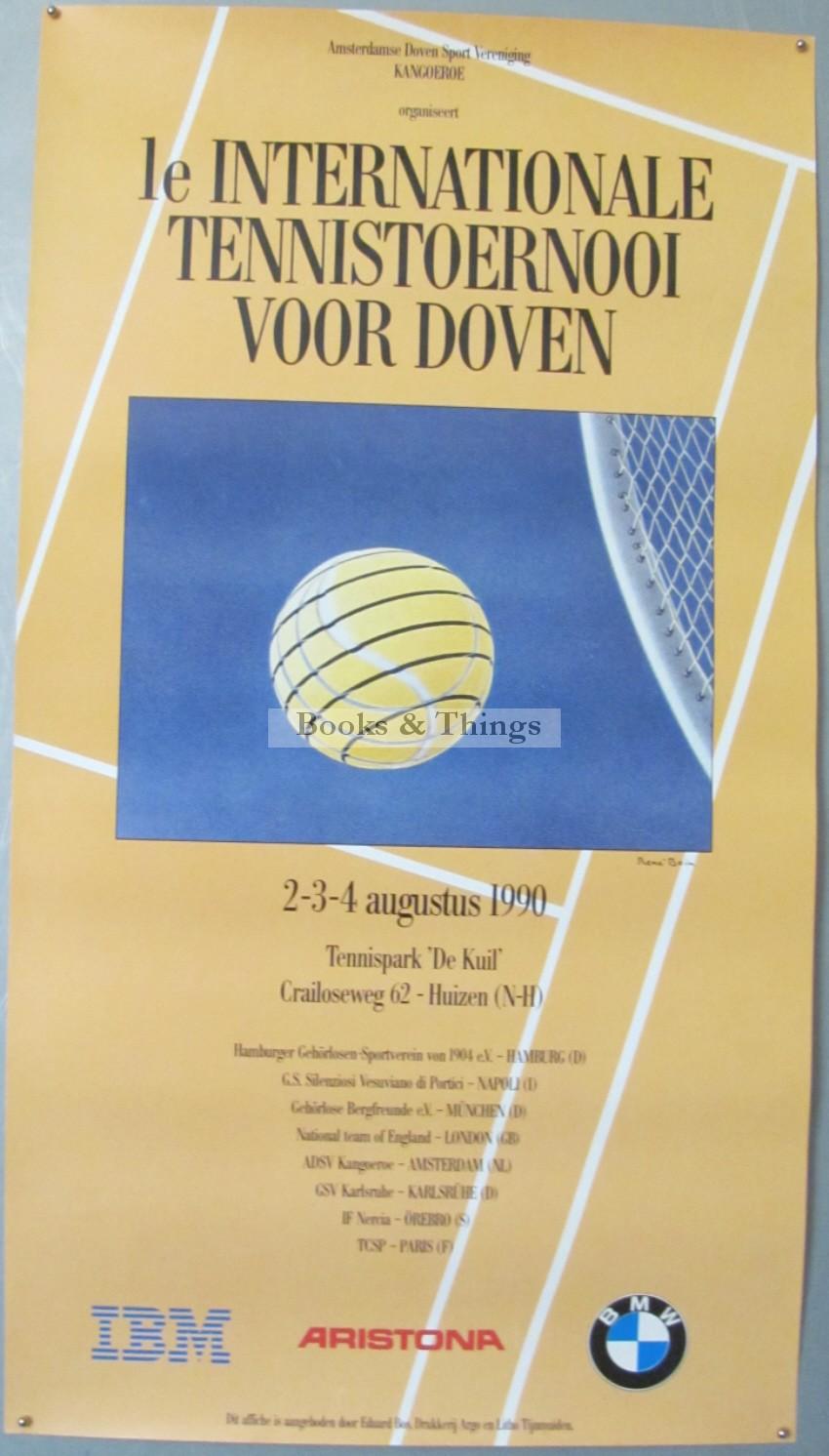 Rene Bain Toernooi tennis poster 1996