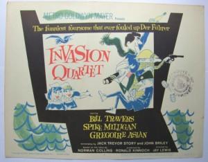 Ronald Searle poster Invasion Quartet