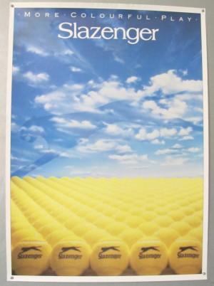 Slazenger tennis balls poster