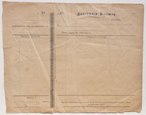 Southwold Railway order form