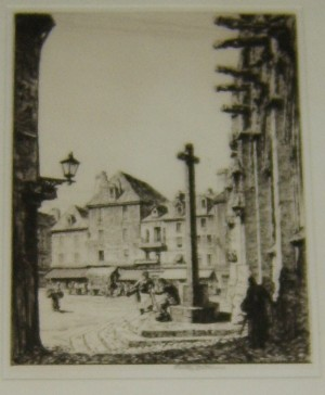 Stanley Anderson etching Falaise