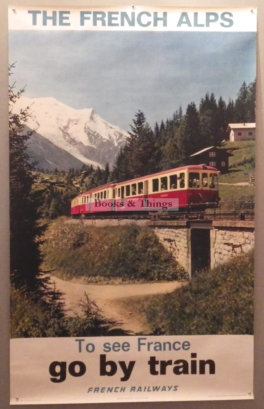 The French Alps poster Go by Train