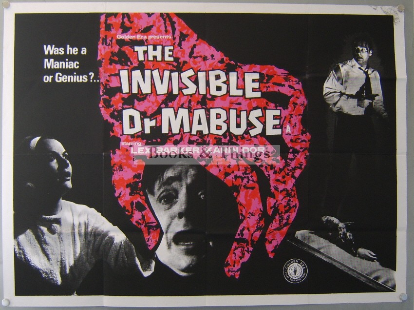 The Invisible Dr Mabuse poster