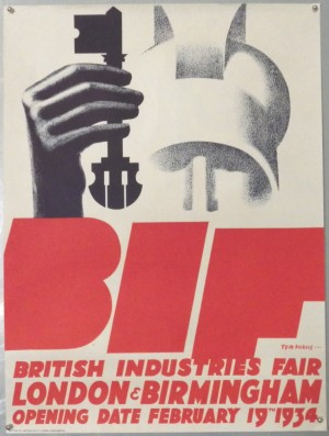 Tom Purvis British Industries Fair poster