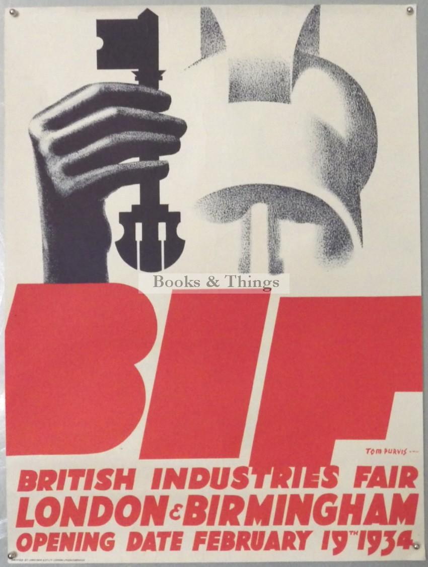Tom Purvis British Industries Fair poster