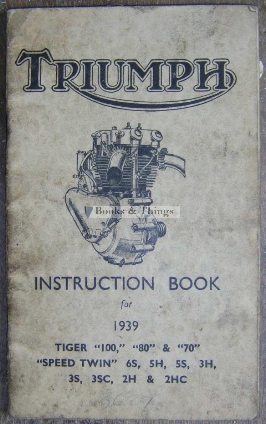 Triumph motorcycle instruction book