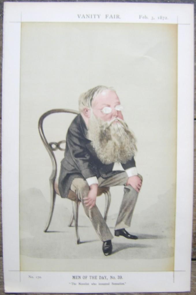 Wilkie Collins Vanity Fair print