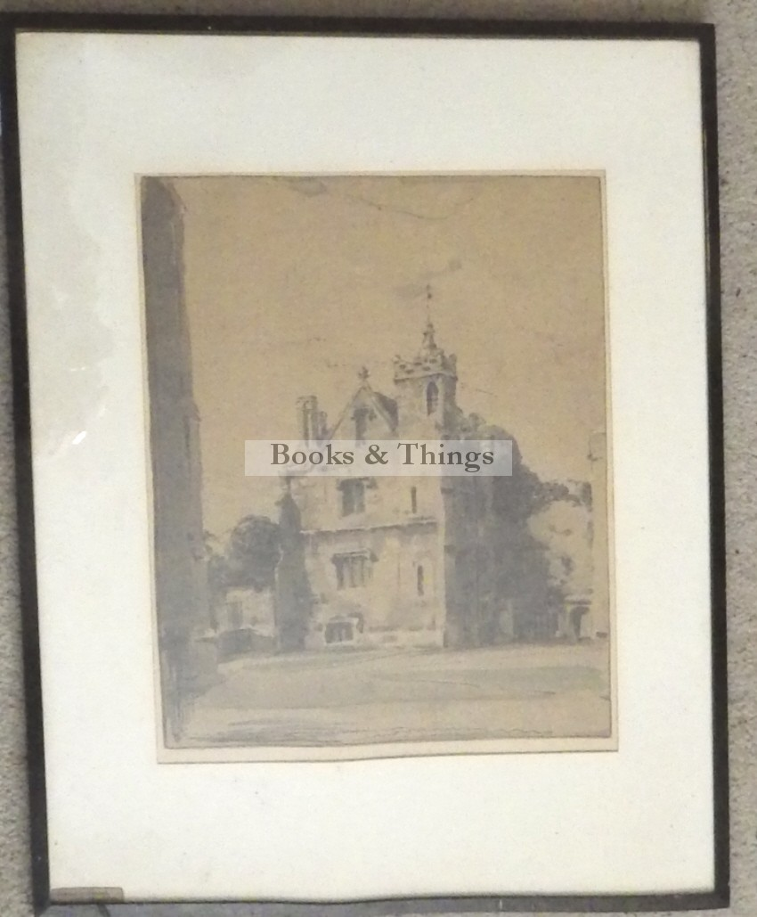 William Nicholson lithograph Grammar School Magdelen