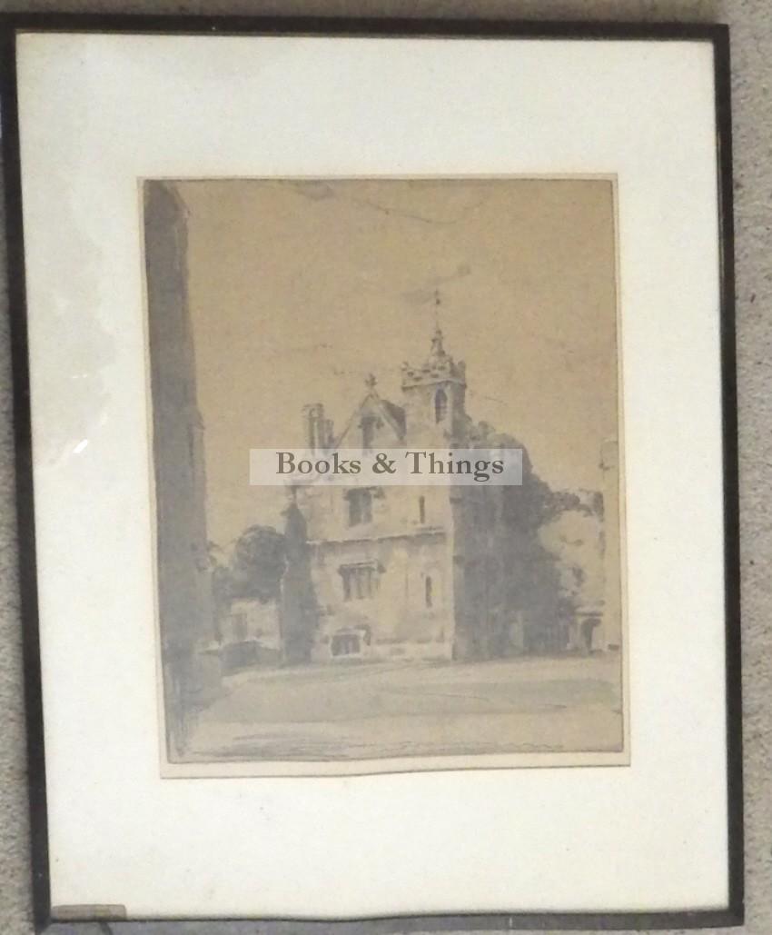 William Nicholson lithograph Grammar School Magdelen