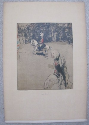 William Nicholson lithograph Lord Roberts on horseback