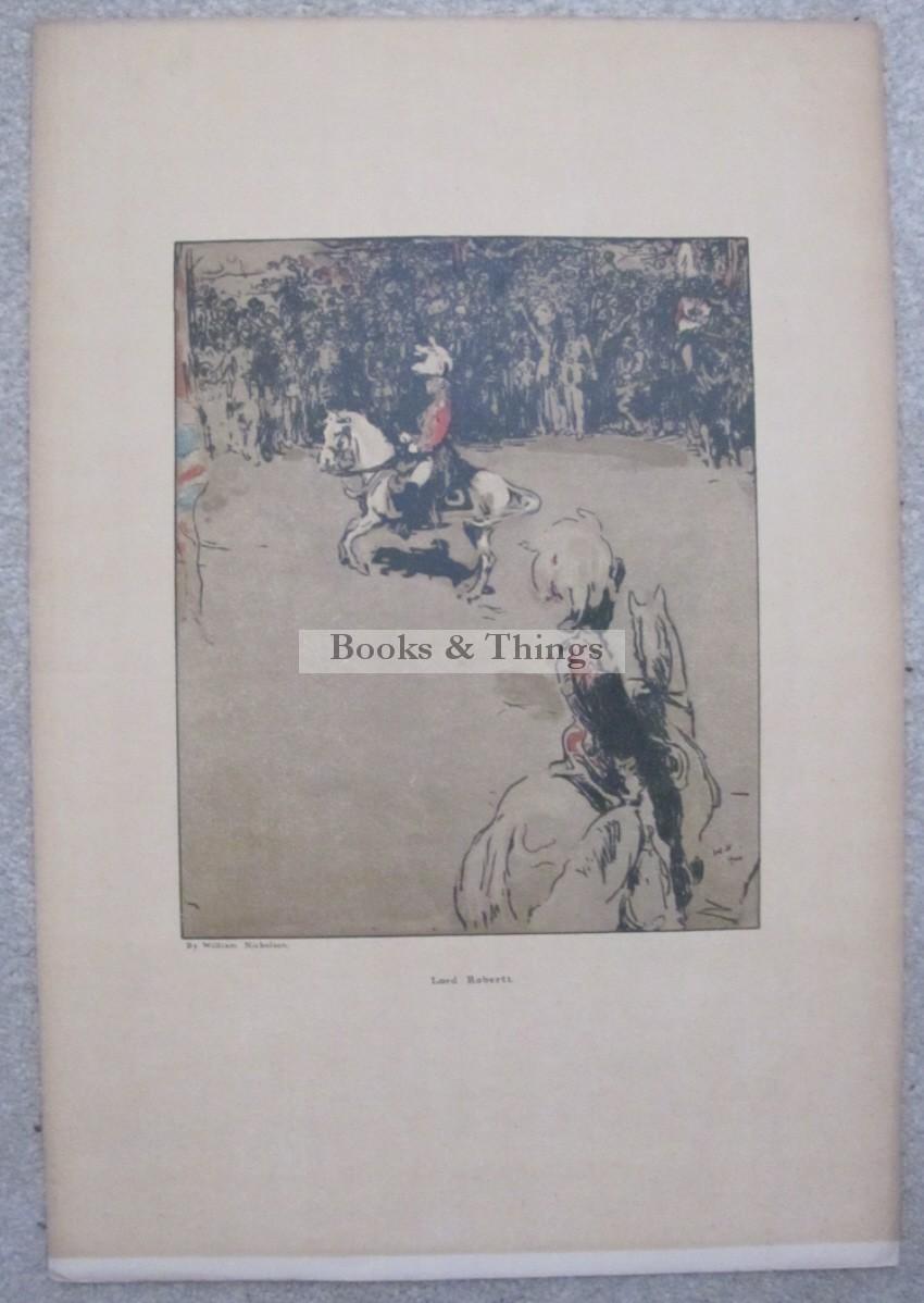 William Nicholson lithograph Lord Roberts on horseback
