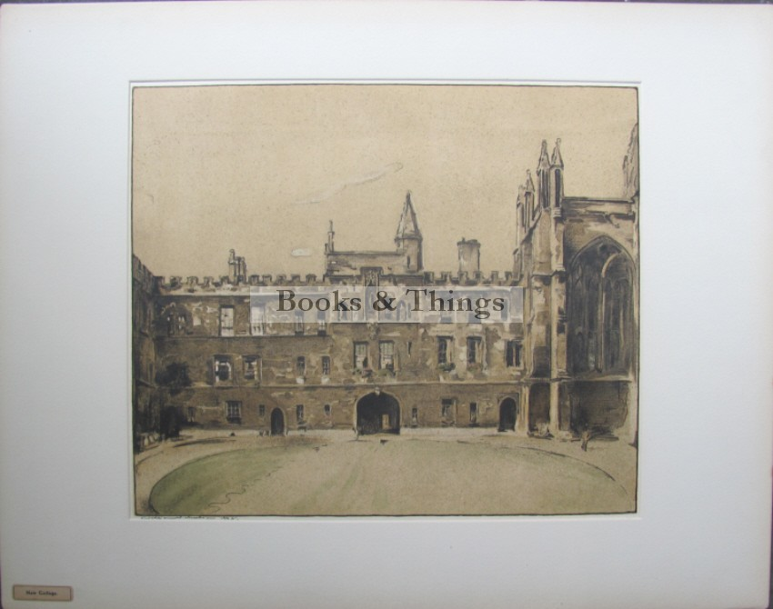 William Nicholson lithograph New College Oxford