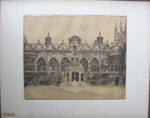 William Nicholson lithograph Oriel College Oxford