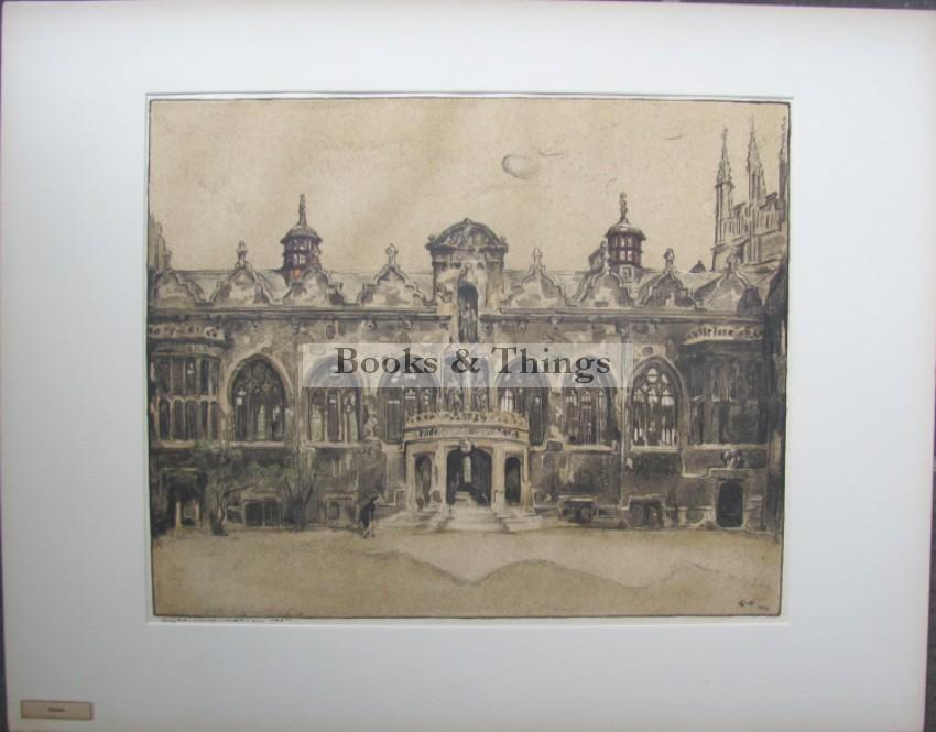 William Nicholson lithograph Oriel College Oxford
