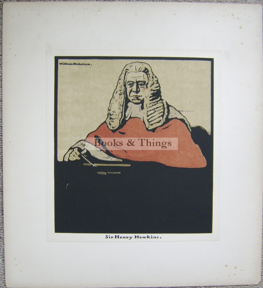 William Nicholson lithograph Sir Henry Hawkins