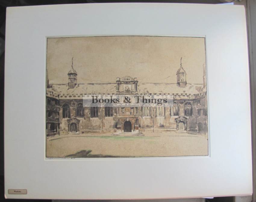William Nicholson lithograph Wadham College Oxford