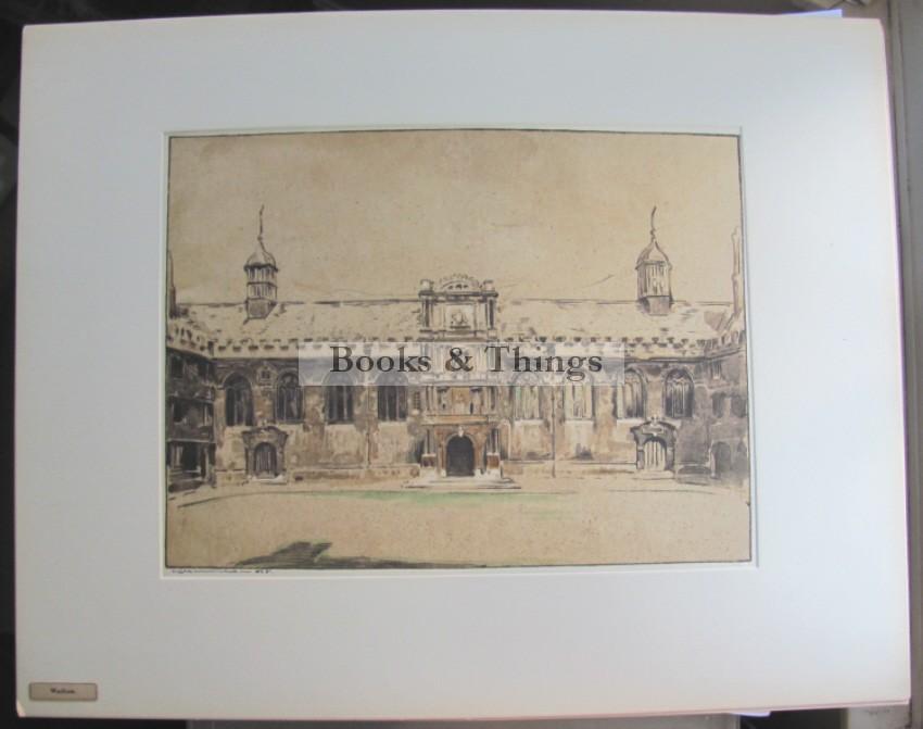 William Nicholson lithograph Wadham College Oxford