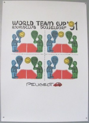 World Team Cup tennis poster 1991