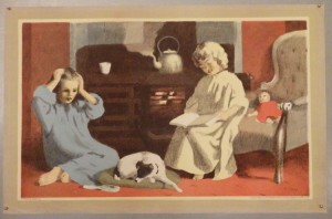Thomas Carr lithograph Fireside School Print