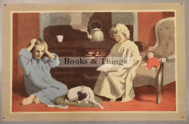 Thomas Carr lithograph Fireside School Print