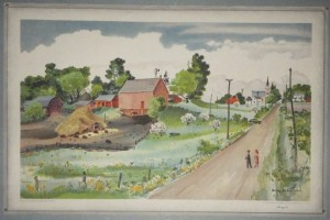 Adolf Dehn lithograph School Print