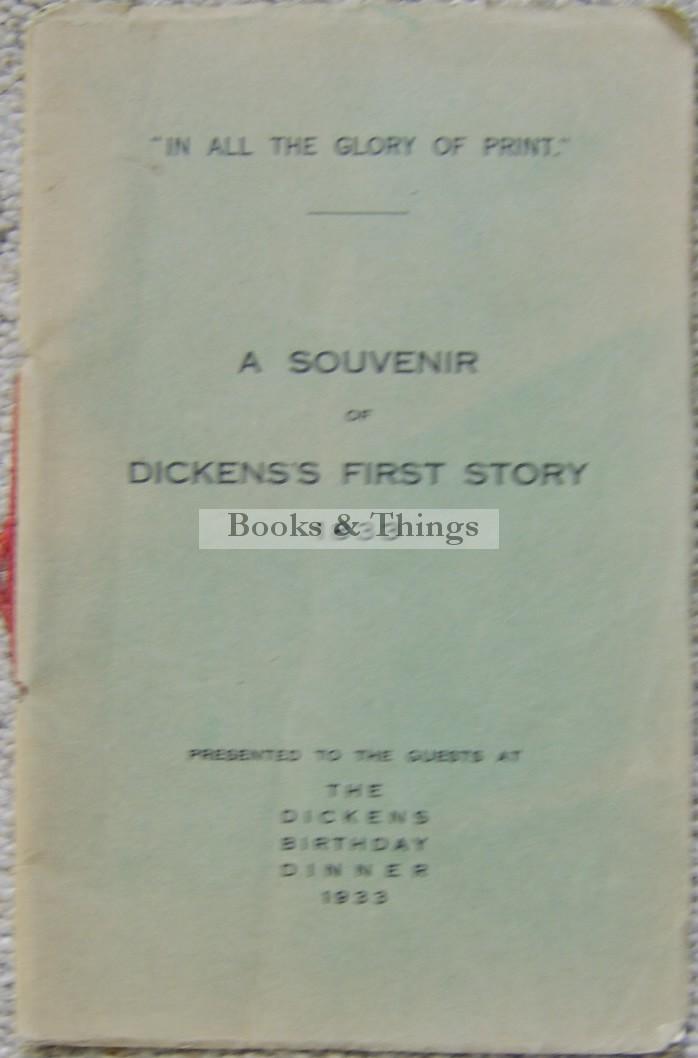 Charles Dickens Souvenir 1933