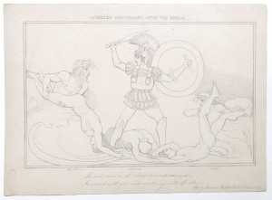 After John Flaxman drawing Achilles Contending with the Rivers