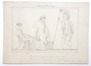 After John Flaxman drawing Hector chiding Paris