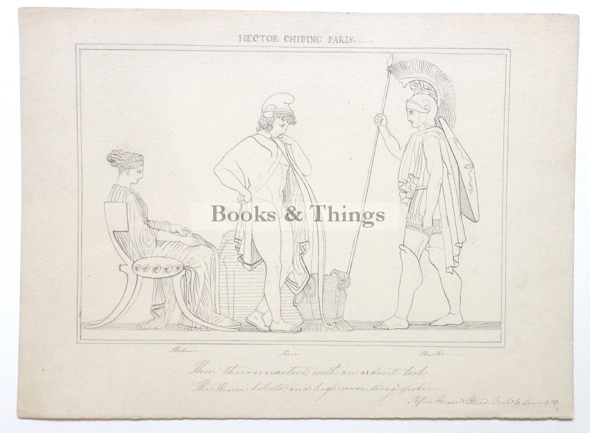 After John Flaxman drawing Hector chiding Paris