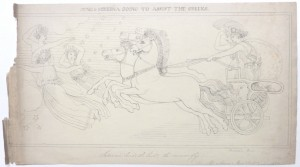 After John Flaxman drawing Juno & Minerva
