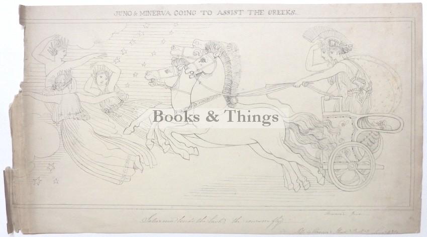 After John Flaxman drawing Juno & Minerva