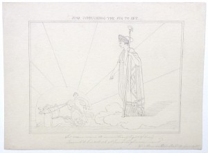 After John Flaxman drawing Juno commanding the Sun