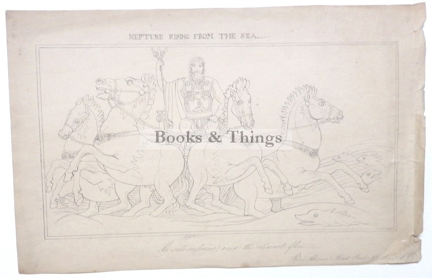 After John Flaxman drawing Neptune rising from the sea