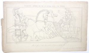 After John Flaxman drawing Polydamus advising Hector
