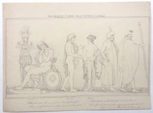 After John Flaxman drawing The Departure of Briseis