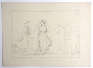 After John Flaxman drawing The Goddess