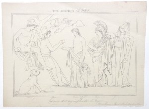 After John Flaxman drawing The Judgement of Paris