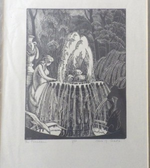 Alice M Coats woodengraving