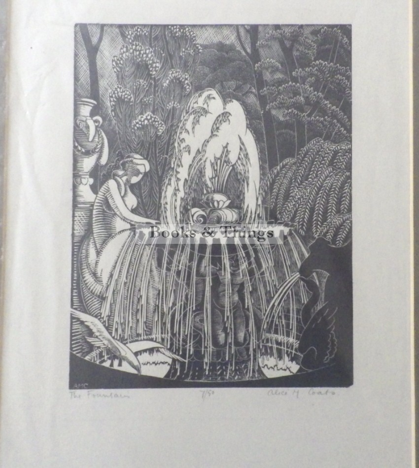 Alice M Coats woodengraving