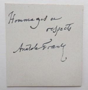 Anatole France autograph