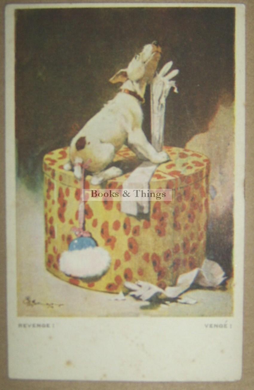 Bonzo with glove postcard