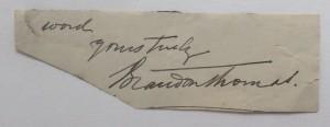 Brandon Thomas autograph