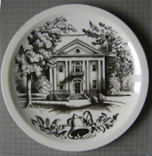 Clare Leighton Wedgwood plate Bennett College