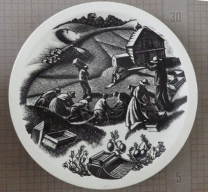 Clare Leighton Wedgwood plate Cranberrying