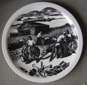 Clare Leighton Wedgwood plate Tobacco Growing