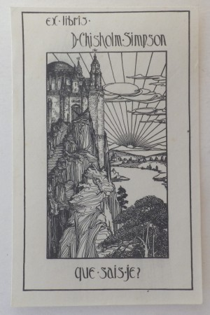 D Chisholm Simpson bookplate