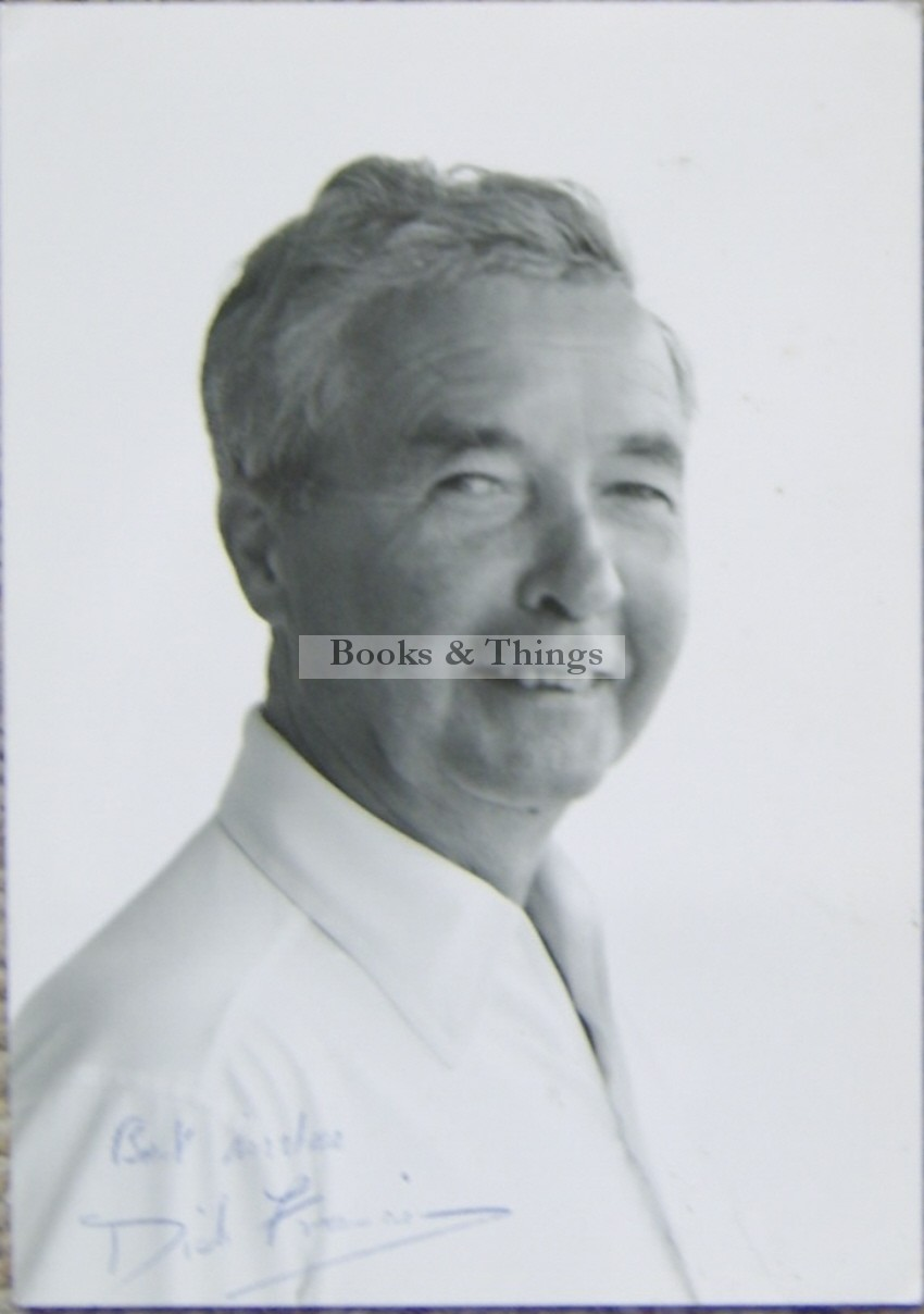 Dick Francis signed photograph