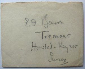 E F  Benson addressed envelope